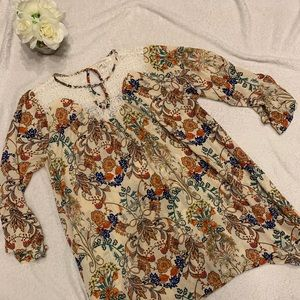 Like New Boho Style Floral Dress